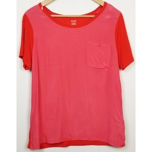 3/$25 a.n.a A New Approach large pink red t-shirt